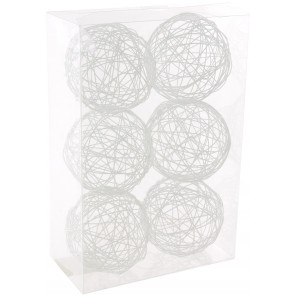 "3"" Wire Balls: White (6)"