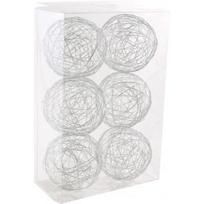 """3"""" Wire Balls: Silver (6)"""
