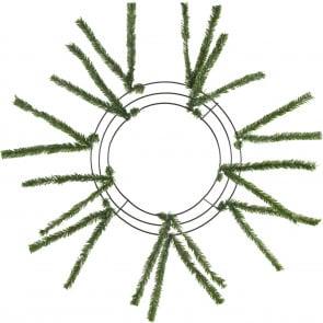 "10-20"" Tinsel Work Wreath Form: Green"