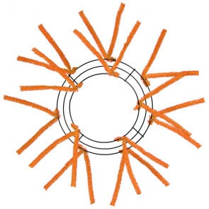 10 inch Tinsel Work Wreath Form Orange