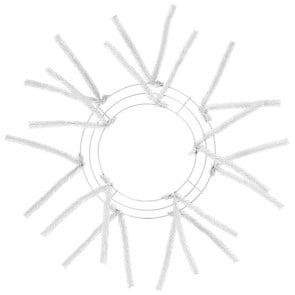10 inch White Tinsel Work Wreath Form