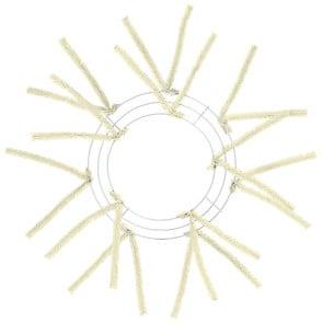10 inch Tinsel Cream Work Wreath Form