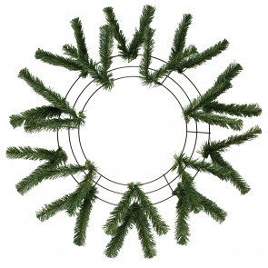 "15-24"" Work Wreath Form: Green"