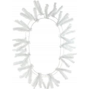 "15-24"" Oval Work Wreath Form: White"