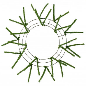 "15-24"" Tinsel Work Wreath Form: Green"