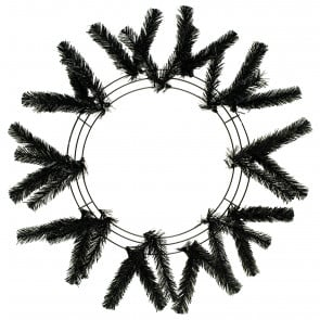 "15-24"" Work Wreath Form: Black"
