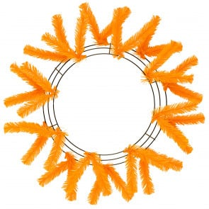 "15-24"" Work Wreath Form: Orange"