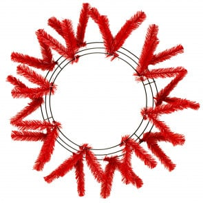 "15-24"" Work Wreath Form: Red"