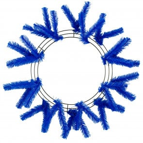 "15-24"" Work Wreath Form: Royal Blue"