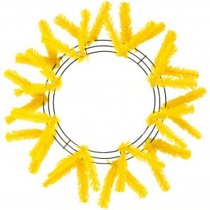 "15-24"" Work Wreath Form: Yellow"