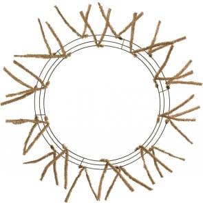 "20-30"" Tinsel Work Wreath Form: Burlap"