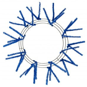 "15-24"" Tinsel Work Wreath Form: Metallic Royal Blue"