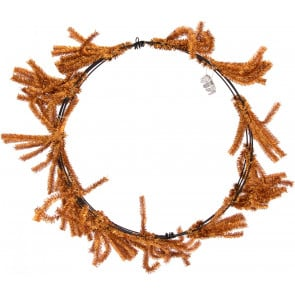 metallic copper 18 - Wire Wreath Frame With Ties