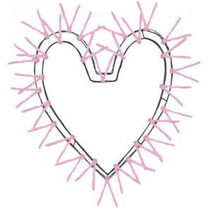 "24"" Pink Work Heart Wreath Fom"