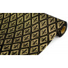 "19"" Fleur de Lis Black/Gold Diamond Fabric (5 Yards)"