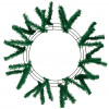 "15-24"" Work Wreath Form: Emerald Green"