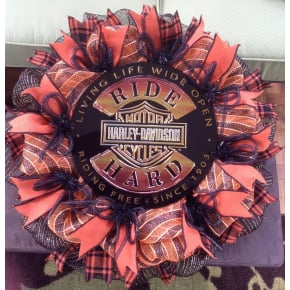 Harley- Davidson Wreath