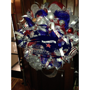 NEW ENGLAND PATRIOTS GAME DAY WREATH