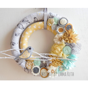 Double Wrapped Fabric Wreath