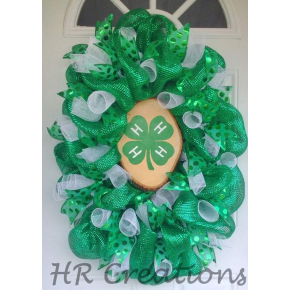 4H Deco Mesh and Ribbon Wreath