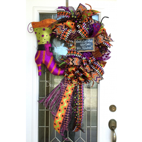 Would a Bad Witch Wear Boots This Fabulous Wreath