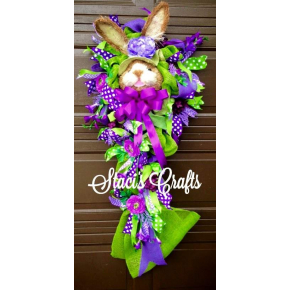 Purple & Lime Spring Time Bunny