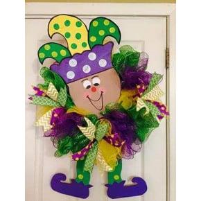 Whimsical Mardi Gras Jester