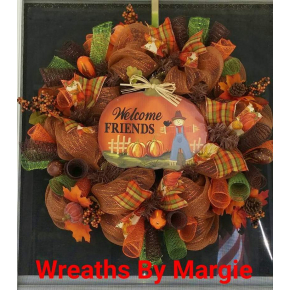 Welcome Friends Fall Wreath