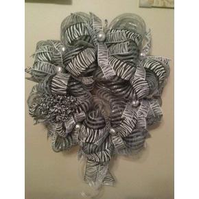 Zebra Wreath