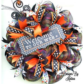Welcome To Our Web Halloween Wreath
