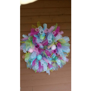 Easter spiral wreath