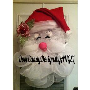 Deco-Mesh & Burlap Santa Wreath