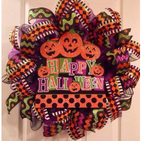 Whimsical Halloween Wreath!