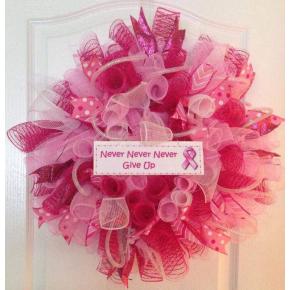 Breast cancer awareness deco mesh breast
