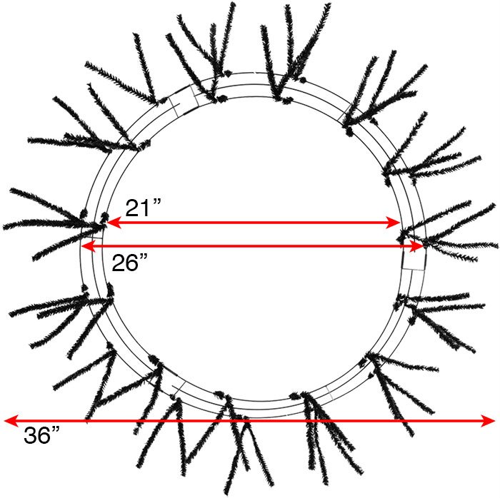 26 36 wreaths - Wire Wreath Frame With Ties